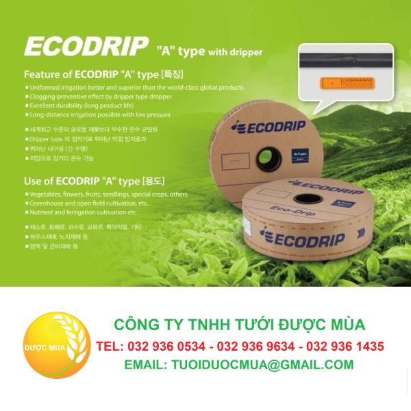 Dây tưới nhỏ giọt eco drip hàn quốc